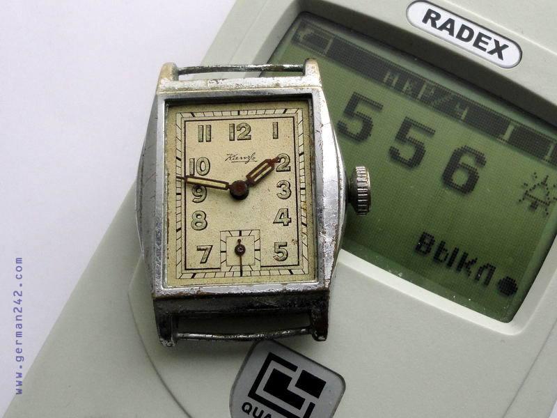 часы Kienzle с радиацией