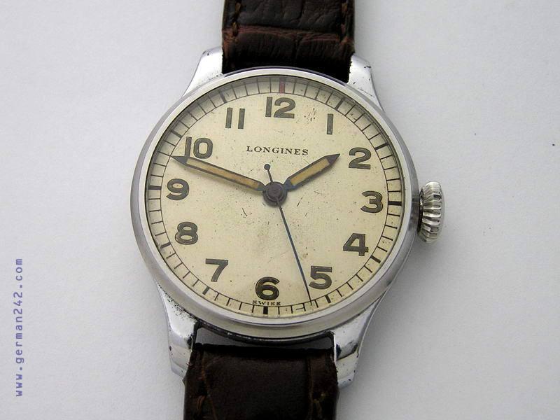 Радиоактивные часы LONGINES 1942 года