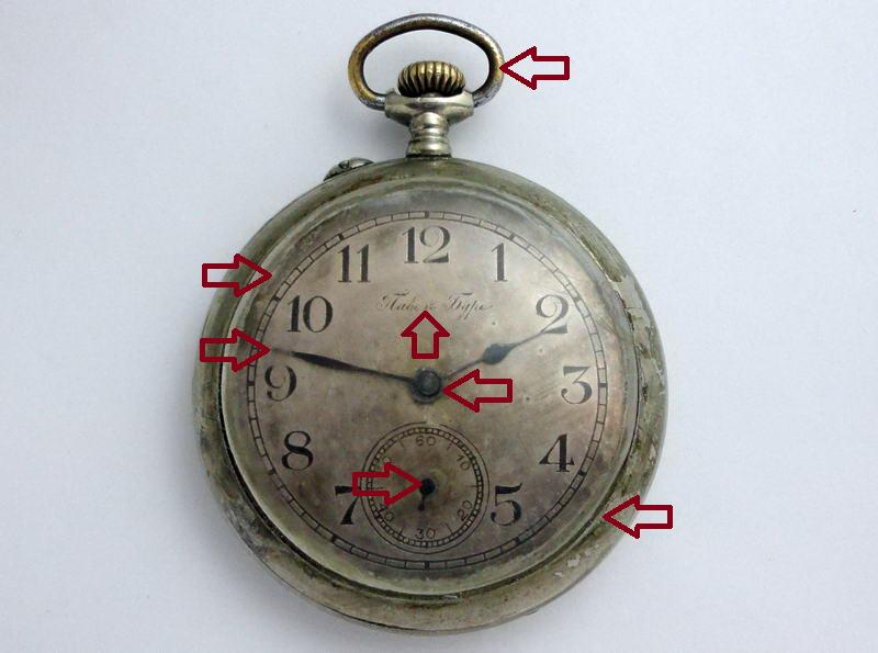 золотые карманные антикварные часы