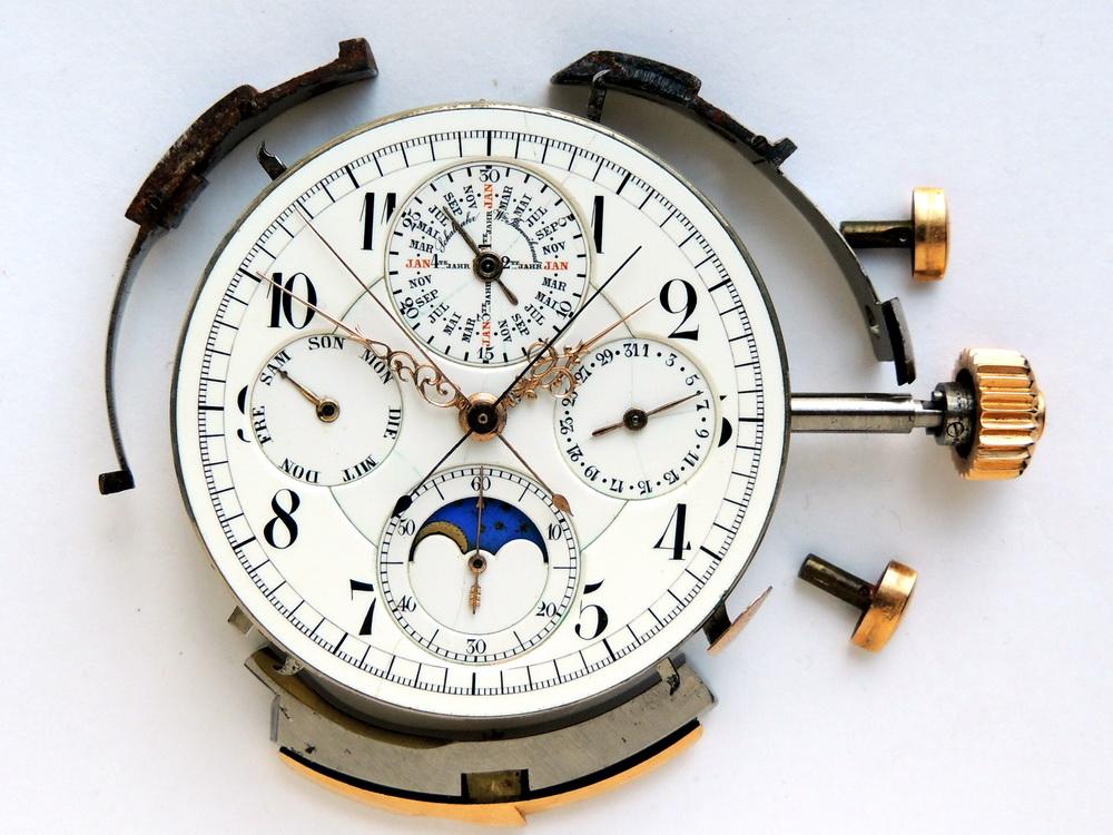 Vintage LeCoultre minute repeater split chronograph perpetual calendar enamel dial moonphase