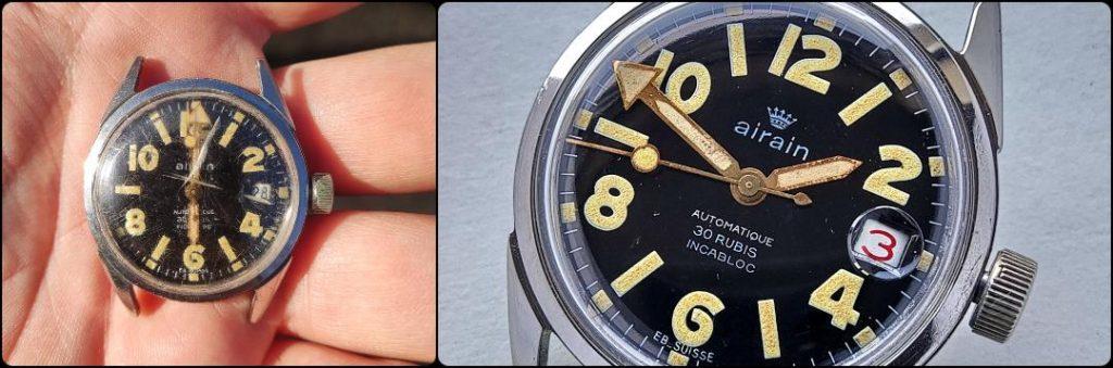 Airain Dodane automatic 30 Rubis diving military watch