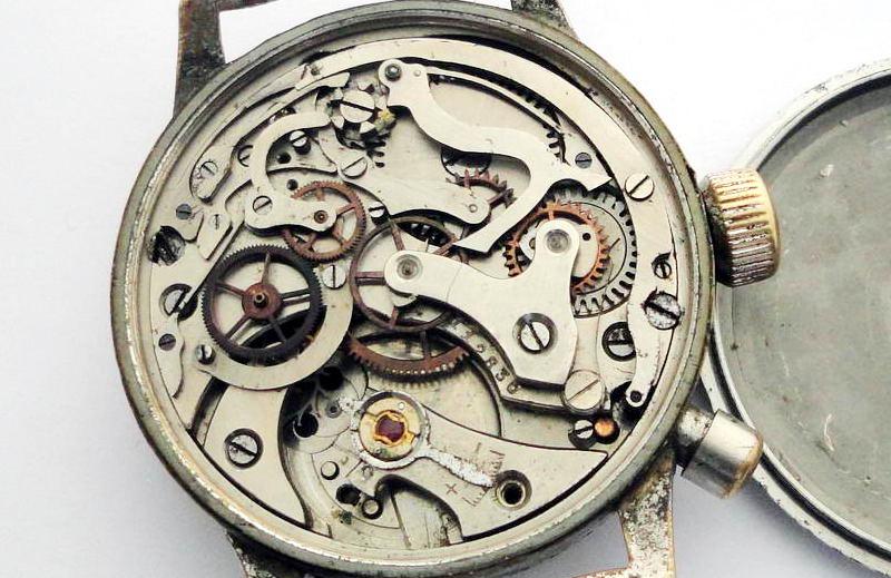Hanhart chronograph movement for repair
