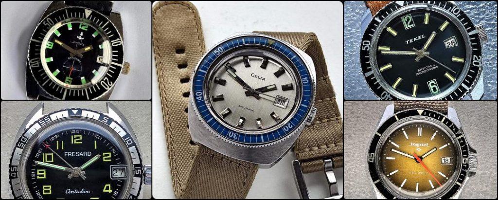 SMOKE, GEWA, TEKEL, FRESARD, JOPEL vintage watches
