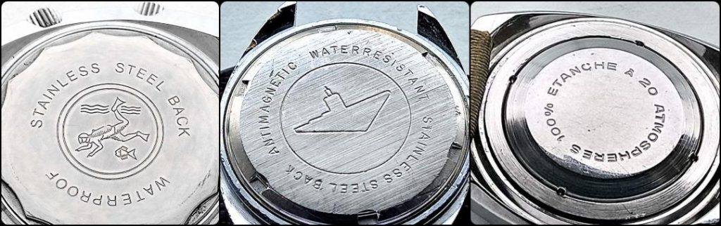 STAINLESS STEL BACK, vintage watch case backs