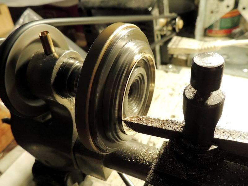 Watch case gold bezel making lathe