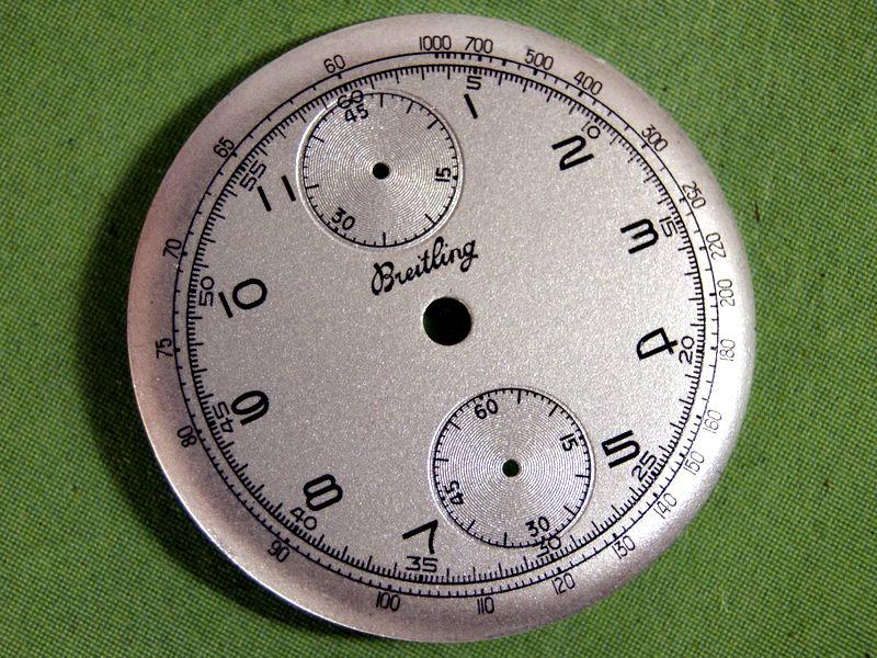 Breitling chronograph dial restoration